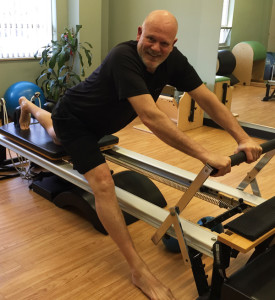 Kurt Junger in a Pilates session at AYC Health and Fitness
