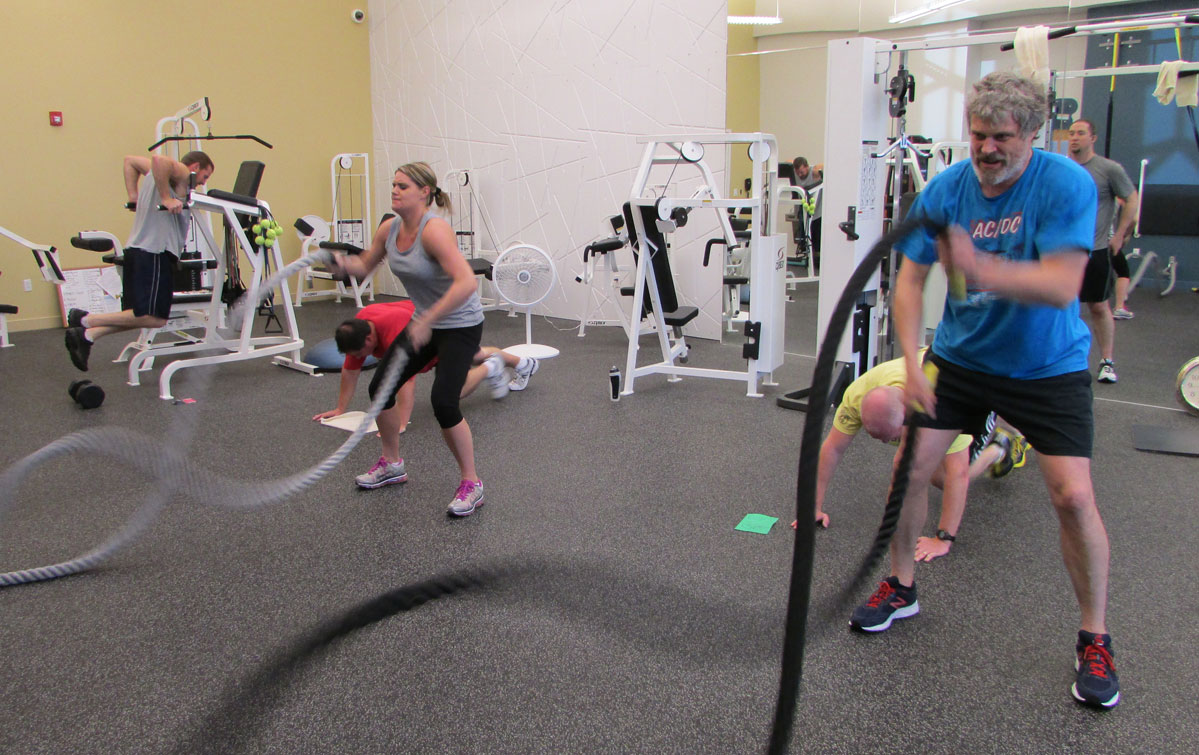 Epiq Systems corporate fitness class
