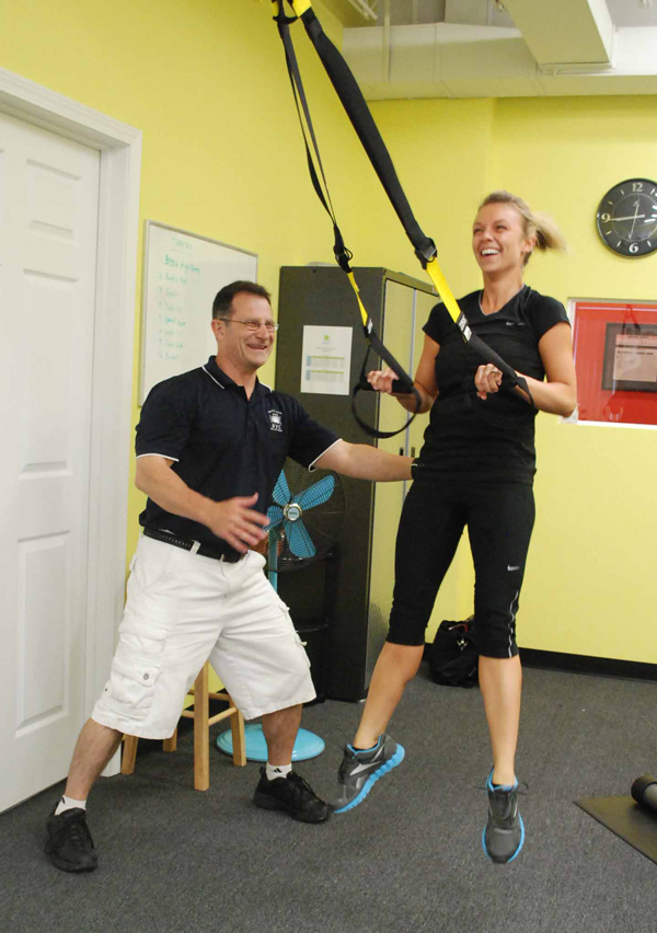 Greg Justice, personal fitness trainer at AYC