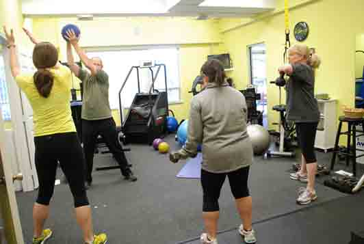 small group training class at AYC Health and Fitness in Kansas City